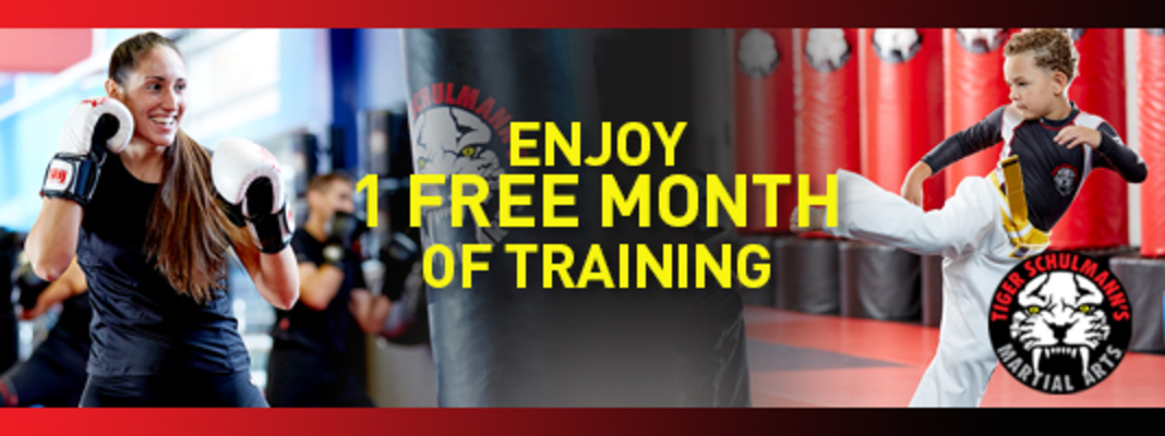 A Free Month of Classes for you from Tiger Schulmann's👊 Image