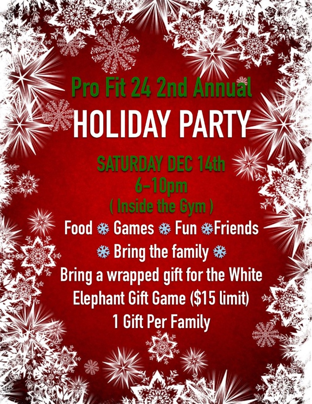 🎄Pro Fit 24 Holiday Party THIS Saturday 6-10pm🎄 Image