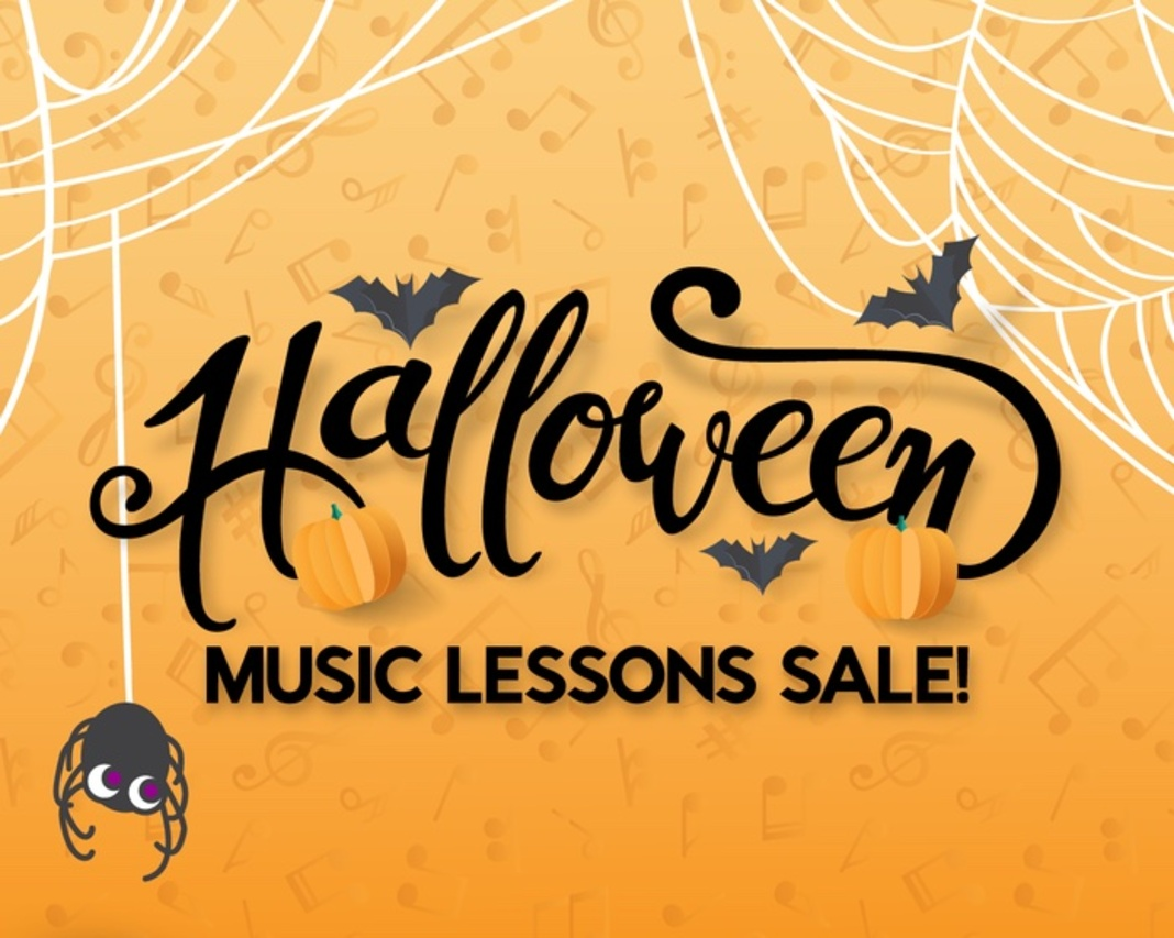 HALLOWEEN Music Lesson Sale! Save $62.25! Expires 10/31! Image