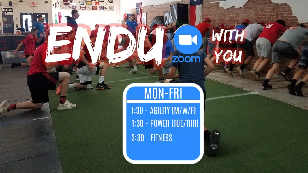 ENDU WITH YOU - Zoom update and reminder Image