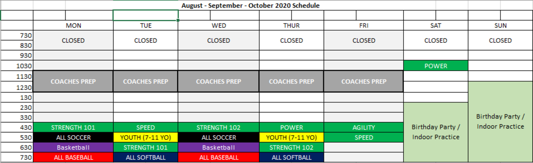 *DON'T FORGET* Schedule changes start this week! Image