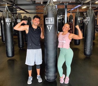 Two friends getting stronger together!