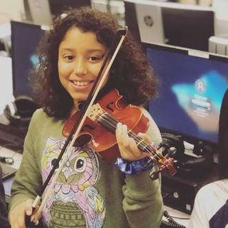 Share the news -- Red Note violin program for local kids Image
