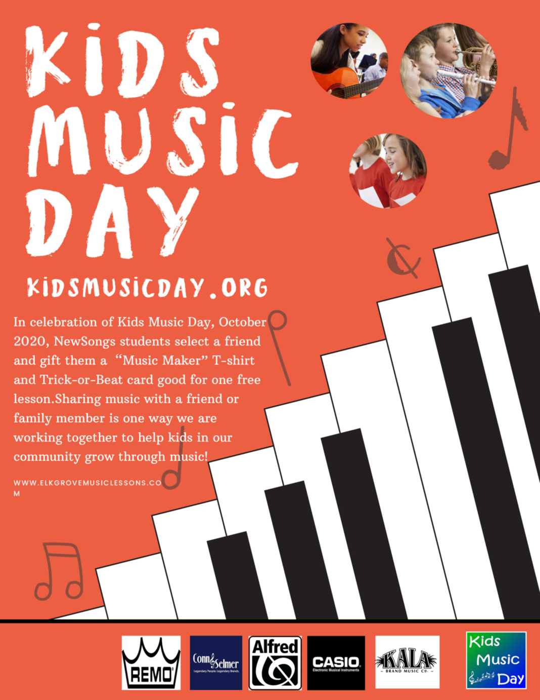 We want to give your friends a free gift for Kids Music Day!  Image