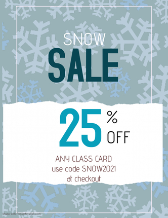 SNOW SALE! TODAY ONLY! Stock up on yoga classes Image