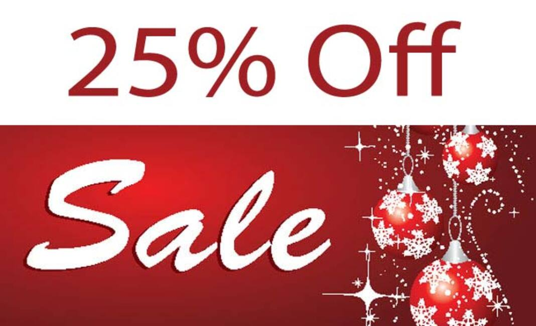 Holiday Flash Sale - 25% Off Image